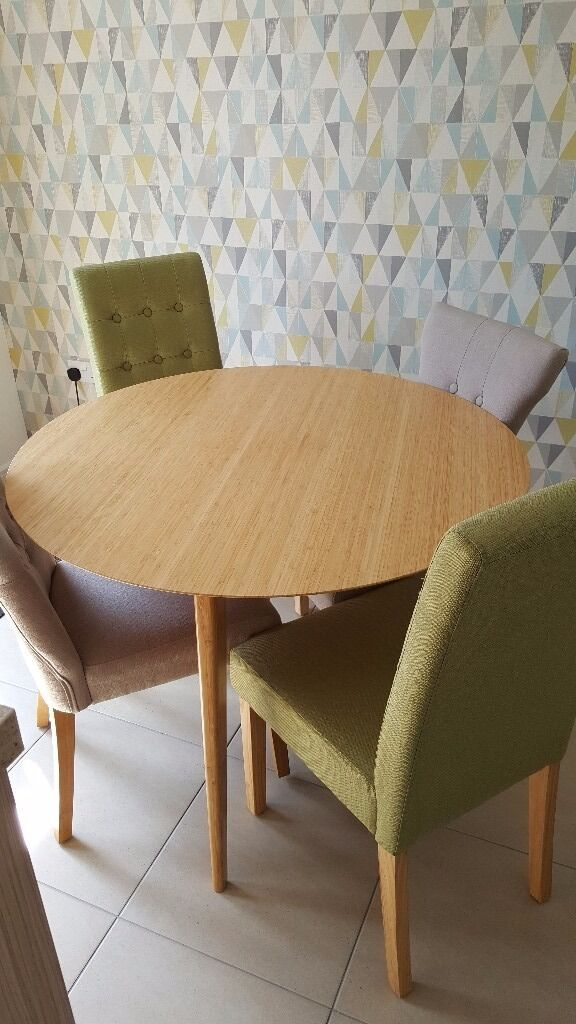 Ikea Finede Bamboo Round Dining Table