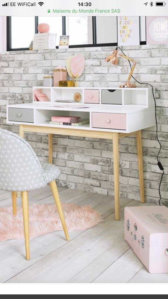 Girls Writing Desk With Module And Chair