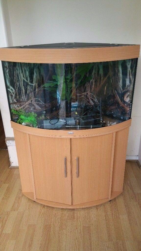 Juwel Trigon 190 Litre Fish Tank And Stand Full Setup Corner Unit Free  Delivery