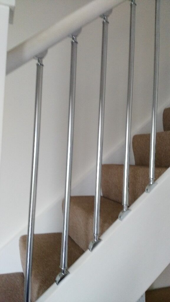 Chrome Silver Stair Spindle
