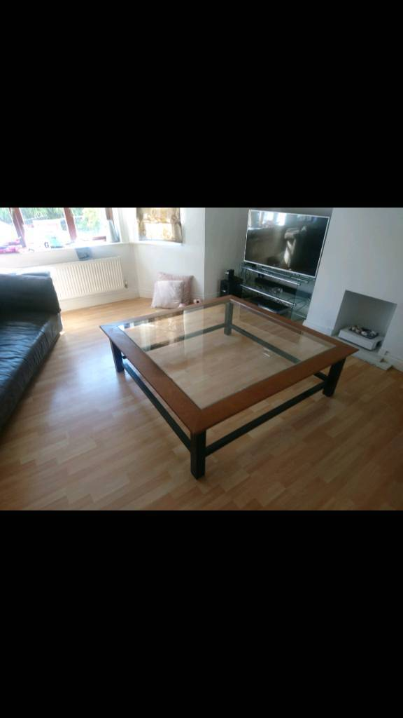 Extra Large Glass Coffee Table
