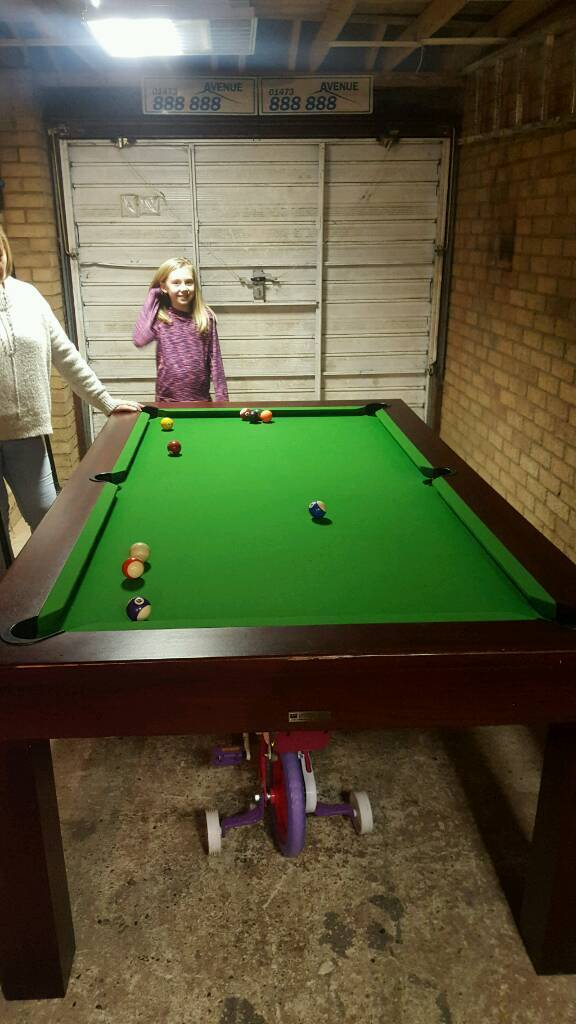 Full Size Slate Bed Pool Table / Table Tennis Table
