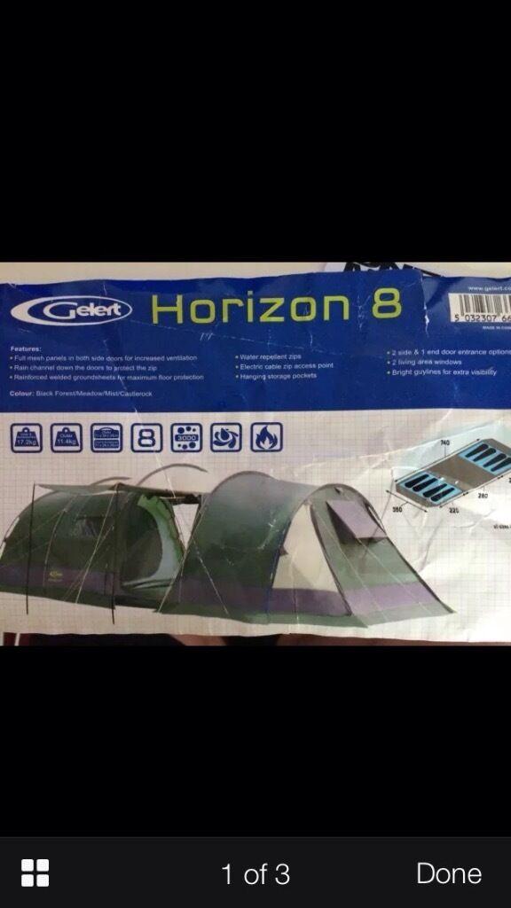 Gelert Horizon 8 Tent & Gelert Horizon Tent Poles images