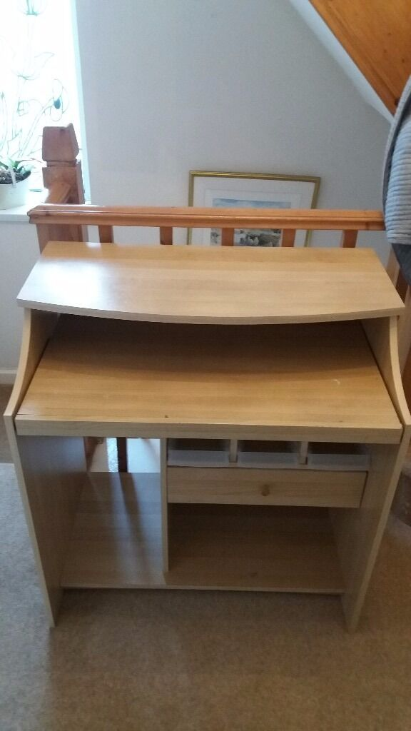 ikea computer desk ideal for childrens room sliding shelf draw and storage