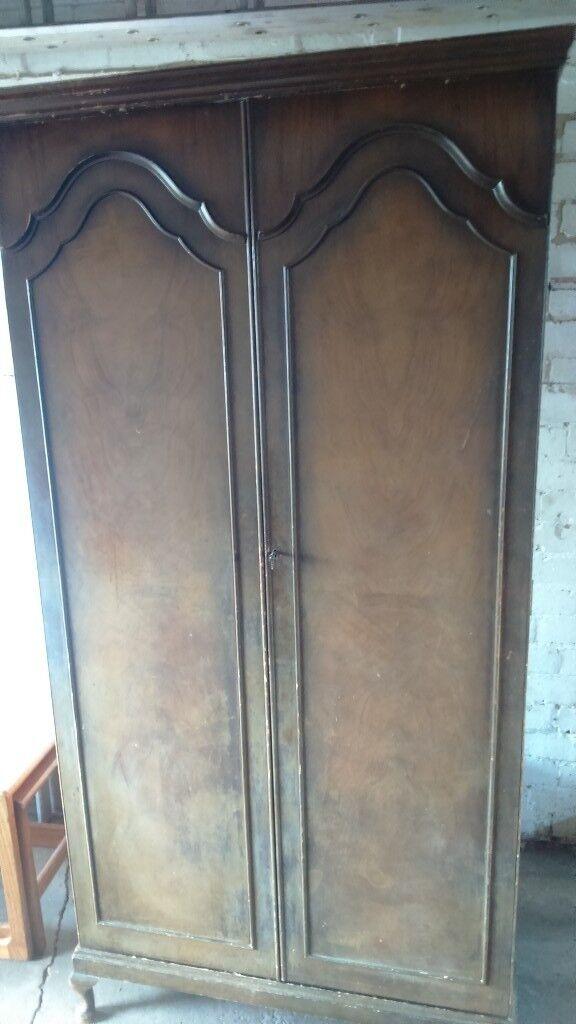 1930u0027s art deco period solid wood wardrobe & 1930u0027s art deco period solid wood wardrobe   in Newthorpe ...