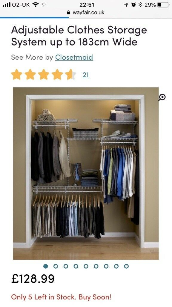 Rails And Shelves For Fitted Wardrobe Or Cupboard Closetmaid