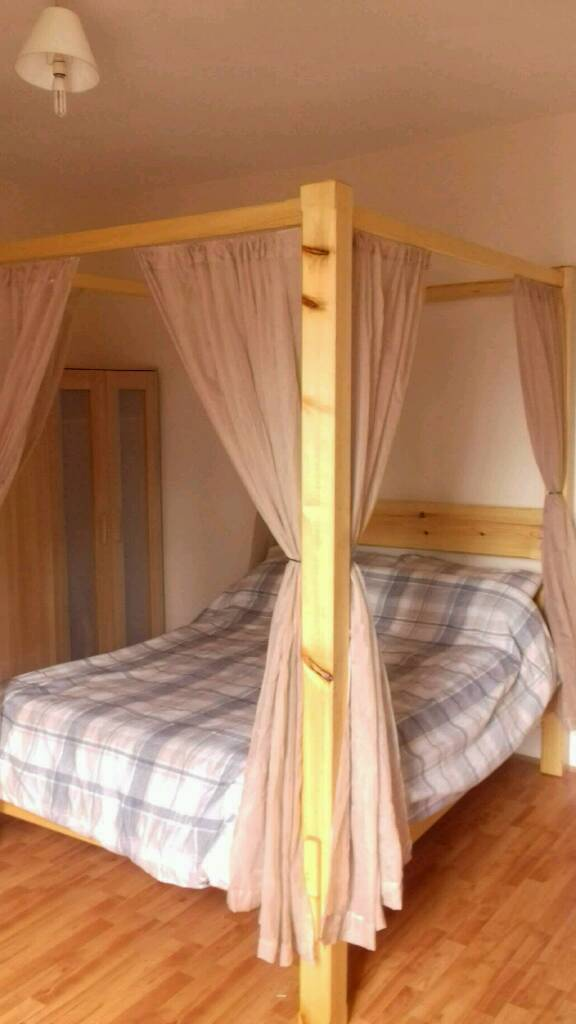 4 Poster Double Bed Part - 49: 4 Poster Double Bed