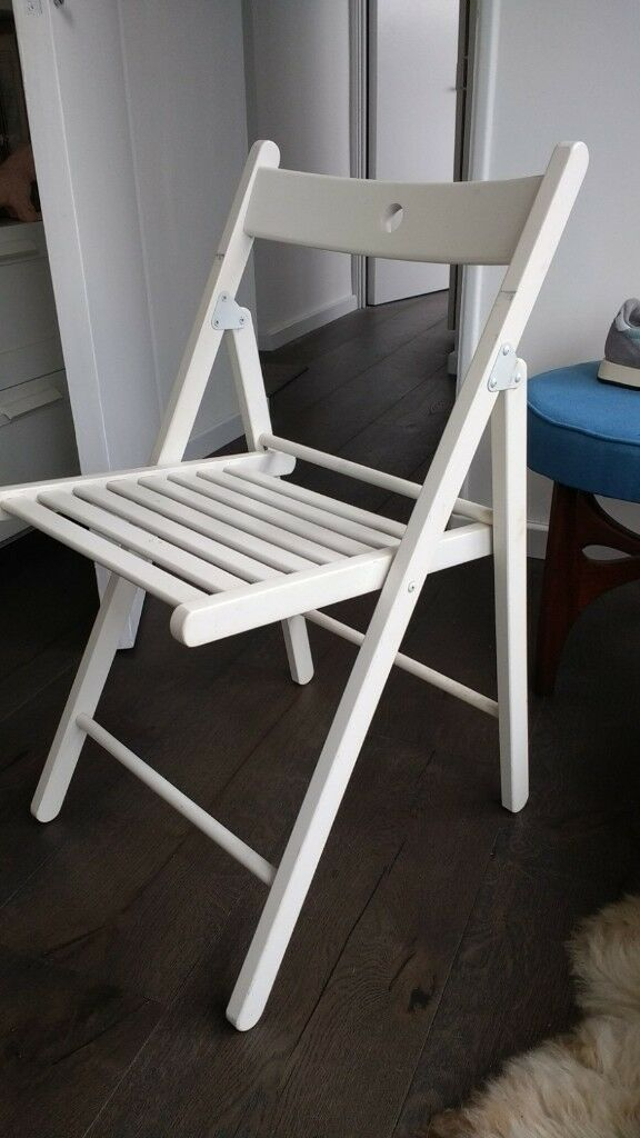 Ikea Terje White Folding Chair