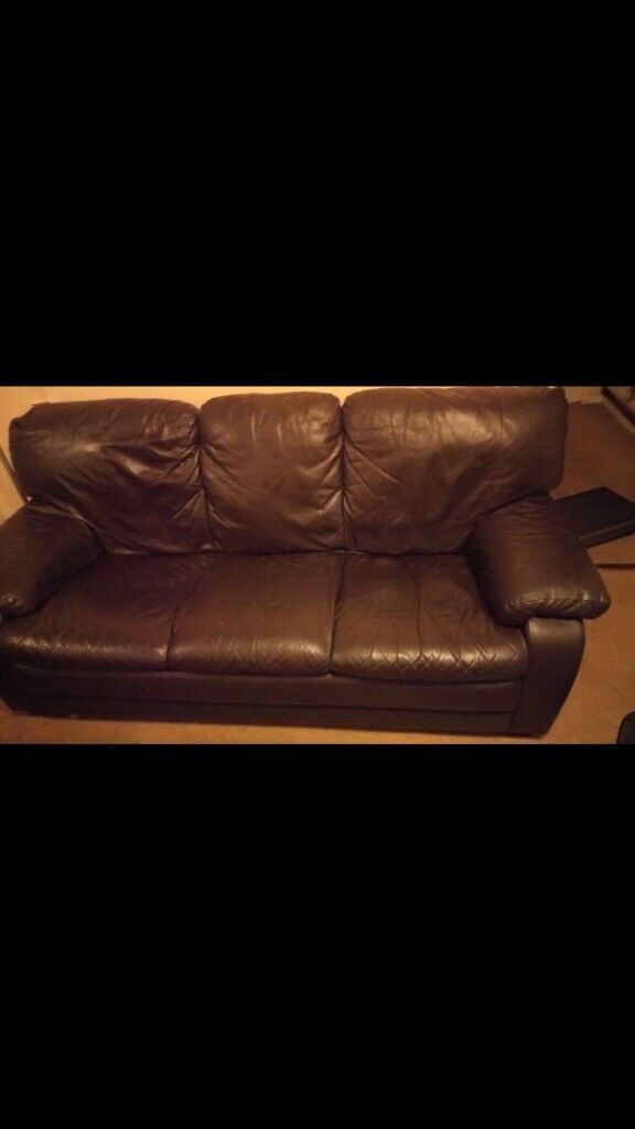 Dark Brown Leather Recliner Sofas 3u0026 2 Seater