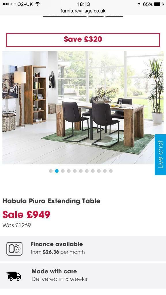 Habufa Piura Extending Dining Table