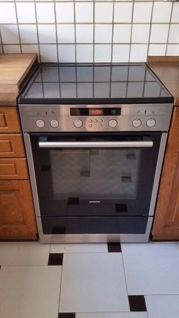 Single Oven Electric Cooker Part - 50: SIEMENS Freestanding Electric Cooker (single Oven Inc. Grill And Ceramic  Cook-top)