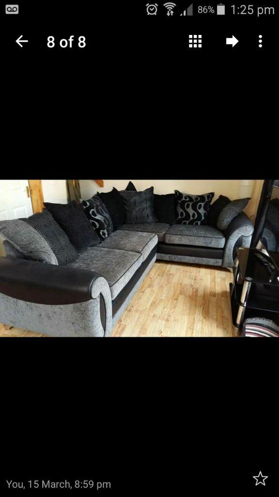 Dfs Large Alessa Corner Sofa Hard Foam £500