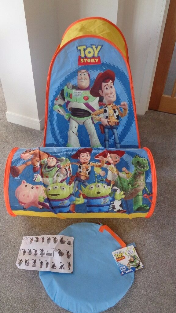 TOY STORY Pop Up PLAY TENT AND TUNNEL Used once. Folds Flat. Indoor & TOY STORY Pop Up PLAY TENT AND TUNNEL Used once. Folds Flat ...