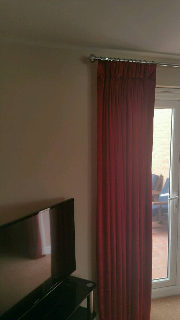 Beautiful Red Heavy Lined Velour Curtains | In Broughton, Buckinghamshire |  Gumtree
