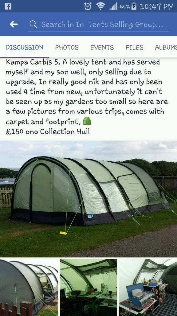 K&a Carbis 5 family tent & Kampa Carbis 5 family tent | in Hull East Yorkshire | Gumtree