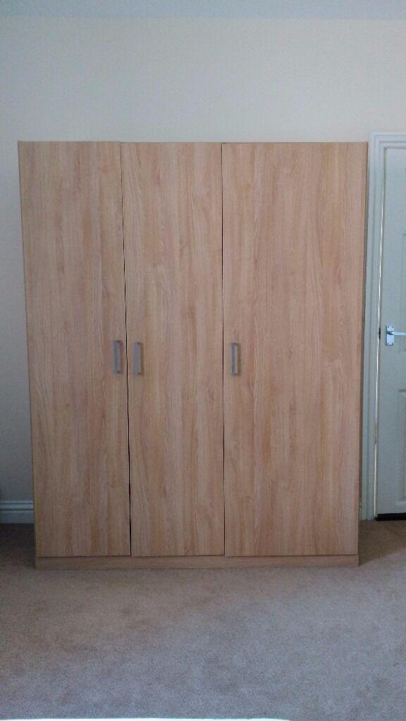 3 Door Wardrobe (IKEA DOMBAS)   Oak Effect