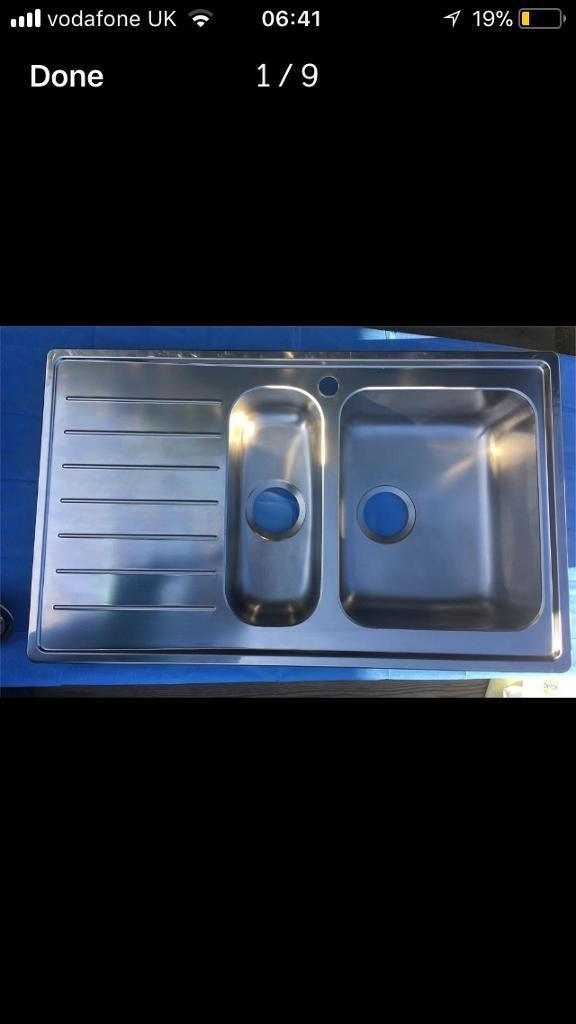 Superieur Ikea Stainless Steel Sink NEW With Drainage Kit BETTER THAN 50% OFF