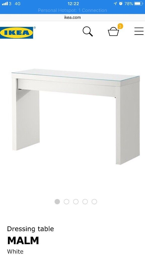 Ikea Malm Dressing Table With One Drawer