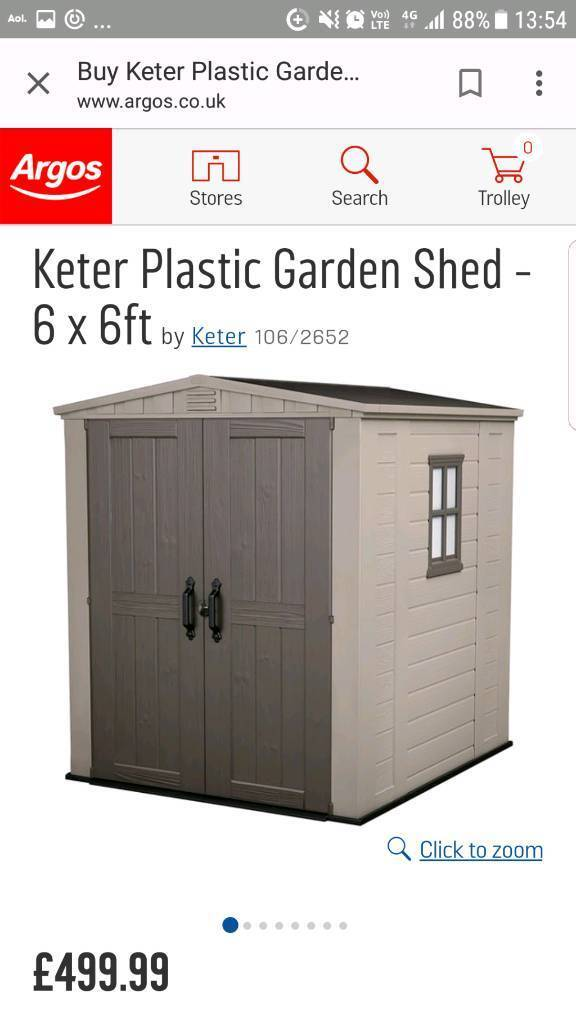 6x6 Garden Shed By Keter Can Deliver Local For Small Fee (Nottingham)