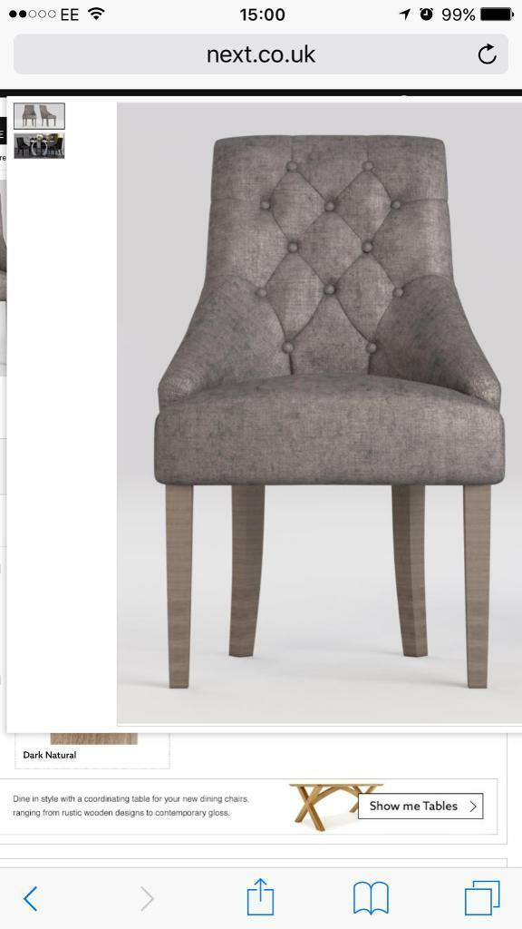 Next Winchester chairs x 2 dove grey  sc 1 st  Gumtree & Next Winchester chairs x 2 dove grey | in Gosport Hampshire | Gumtree