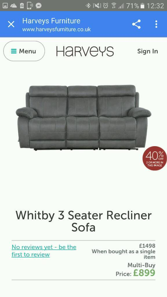 Harveys Whitby Recliner Sofa and Chair Faux Suede As New  sc 1 st  Gumtree & Harveys Whitby Recliner Sofa and Chair Faux Suede As New | in ... islam-shia.org
