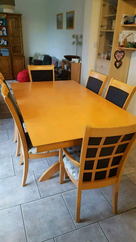 Delightful Mfi Savannah Dining Set And 6 Chairs