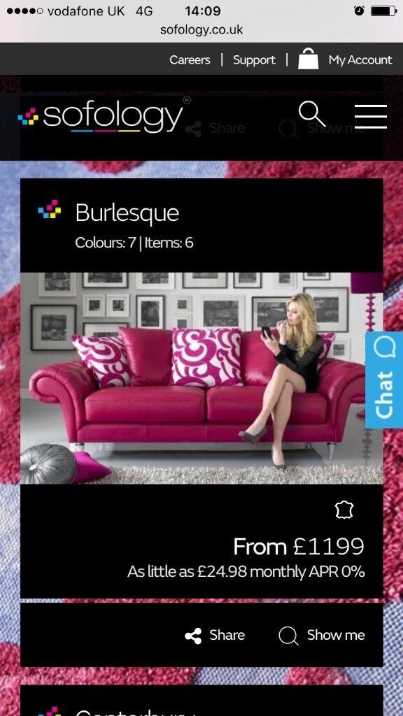 Pink Burlesque Couch By Sofology In Renfrew Renfrewshire Gumtree