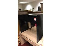 higena gloss black dressing table