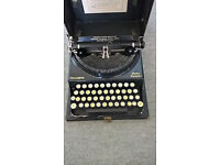 Antique typewriter Remington Home Portable with case