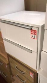 bergen 2 drawer bedside white