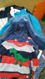 Bundle of boys jumpers aged 2-3 years.