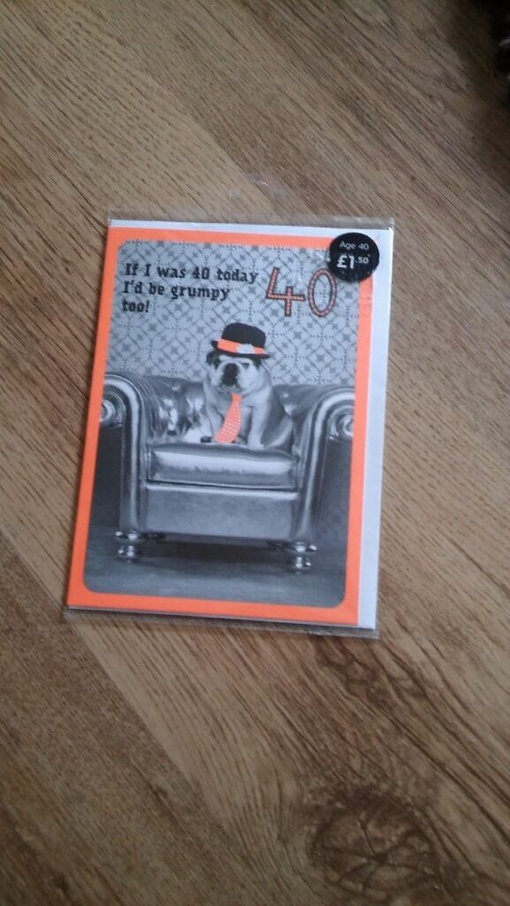 M and s 40th birthday card 30p in Norwich Norfolk – M and S Birthday Cards