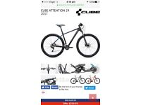 Gents cube mountain bike