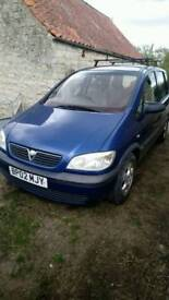 2002 02 Vauxhall Zafira 1.6l Club 7 Seater MPV ***Spares or Repairs***