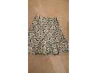 Dorothy Perkins, floral peplum skirt, knee length, Size 6