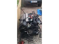 BMW 528i engine and gearbox complete
