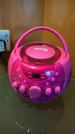 Portable music cd player