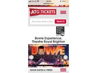 2 David Bowie experience tickets