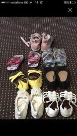 Girls shoe bundle infant 7