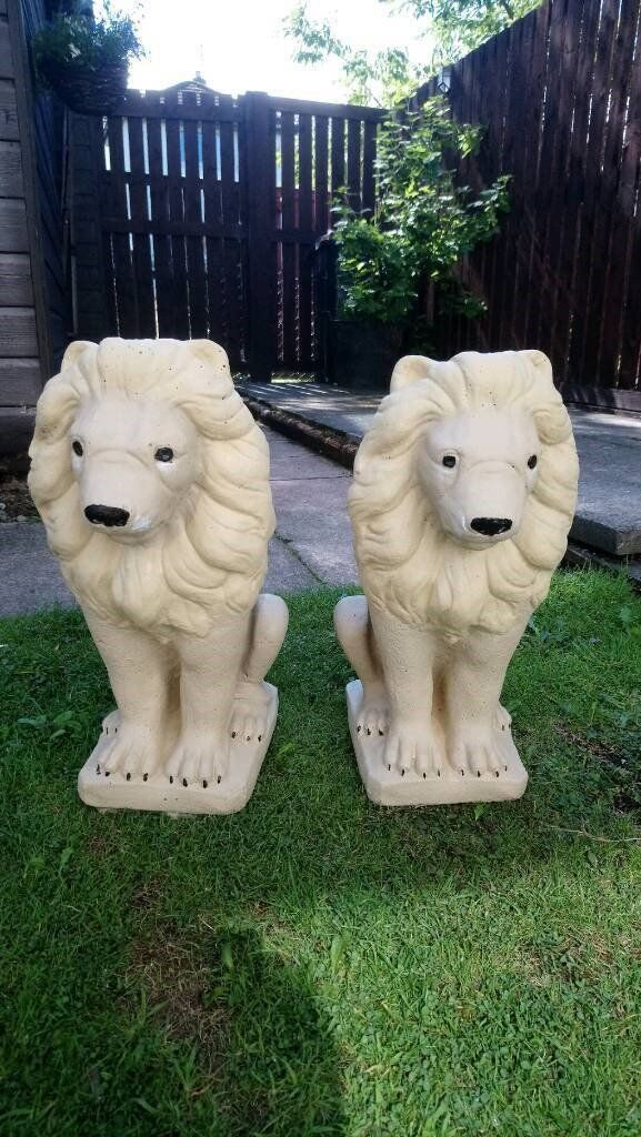 Stone Lion Garden Ormants Gnomes Can Deliver Locally