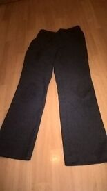 used M&S boys grey school trousers with adjustable waist age7-8