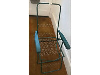 Lounger deck chair (needs cushion seating)