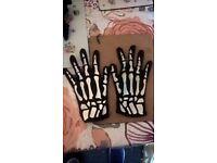 skeleton gloves fancy dress / halloween