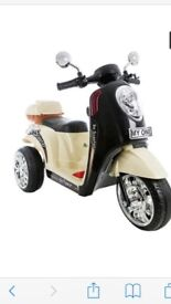 Cream electric scooter