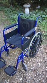 Affordable Care blue self propelled wheelchair