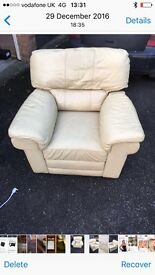 Cream reclining chair