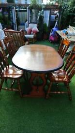 JACOBEAN TABLE & CHAIRS