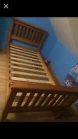 Pine single bed for sale