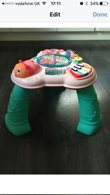 Bright starts musical activity table.