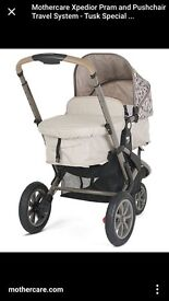 MOTHERCARE XPEDIA COMPLETE TRAVEL SYSTEM PRAM & CAR SEAT 0-2 YEARS